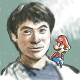 Guardate com'è simpatico in questo autoritratto insieme a Mario!