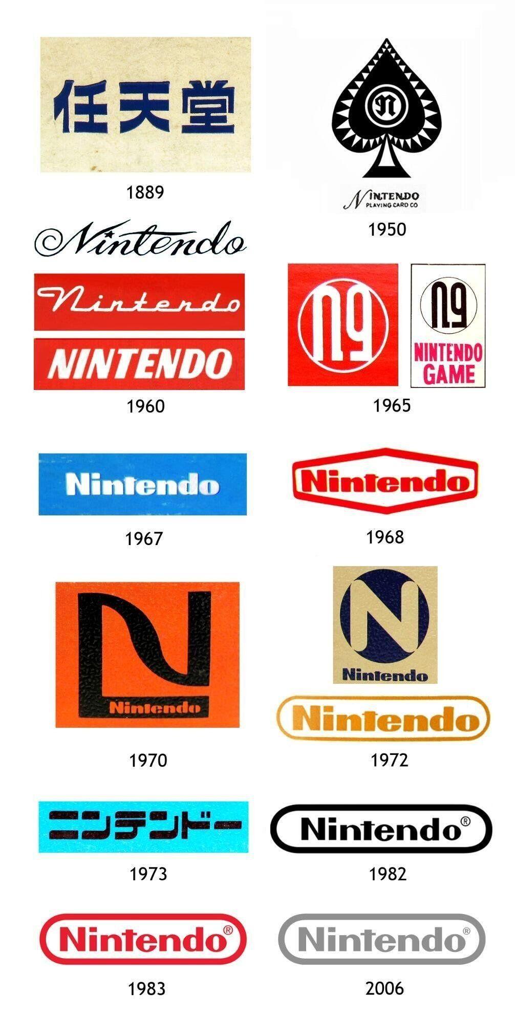 I loghi Nintendo dal 1889 ad oggi. Sono tutti o ne mancano alcuni?