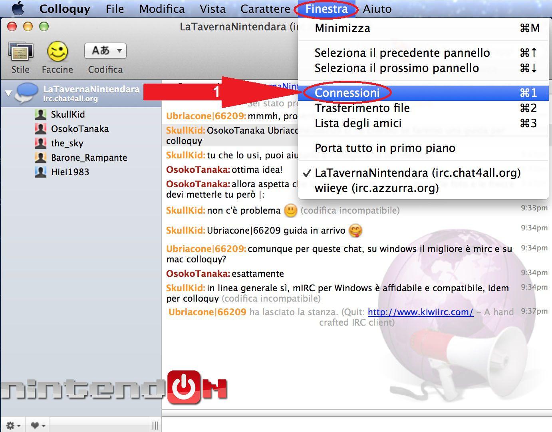 Guida Colloquy schermata 1 final chat di colloquy