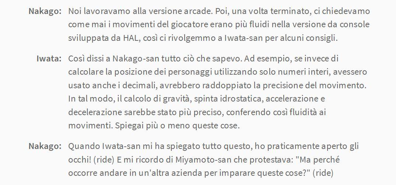 Citazione tratta da Iwata Chiede. Quanto mi mancano!