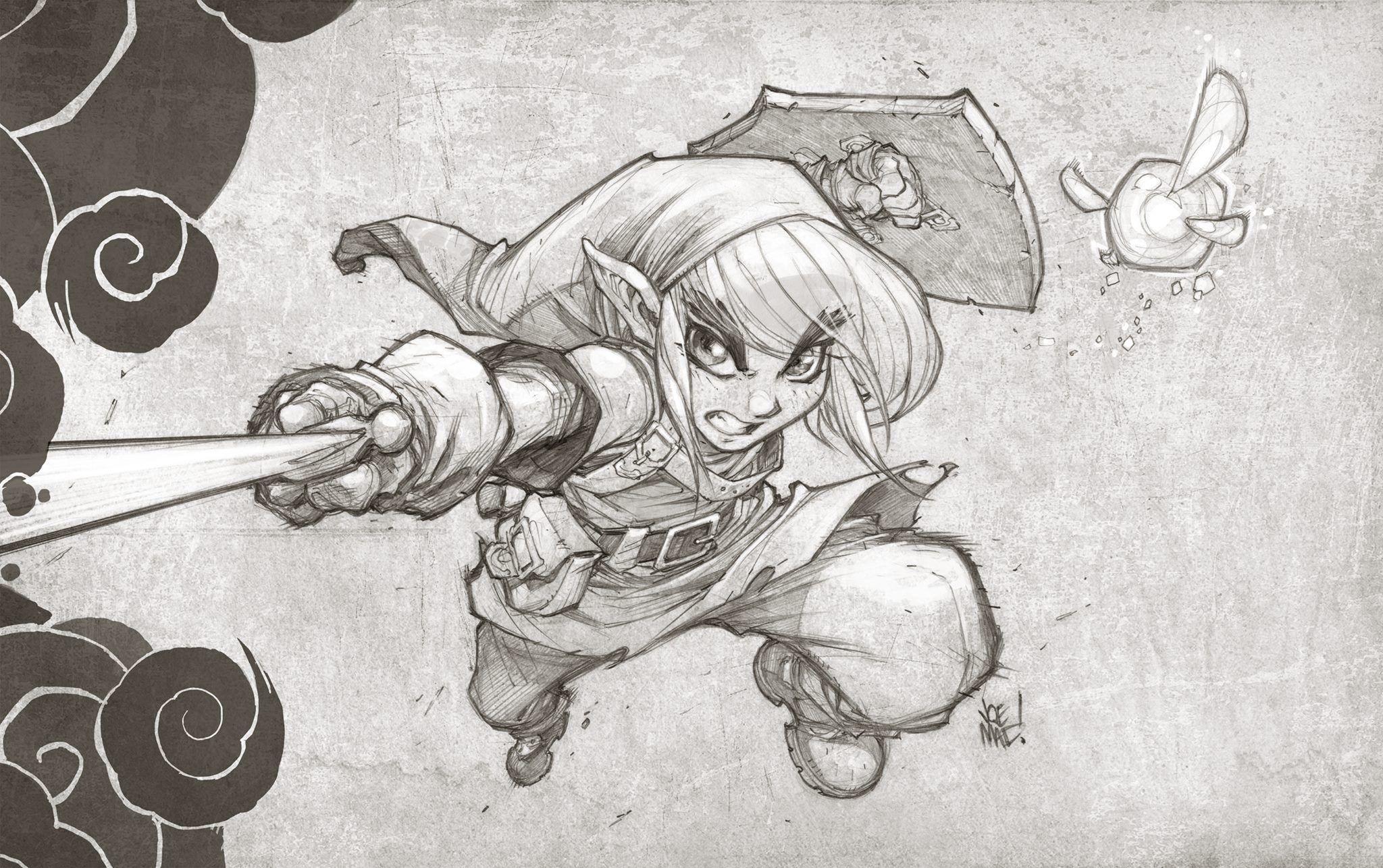 Joe Madureira Darksiders Link Zelda