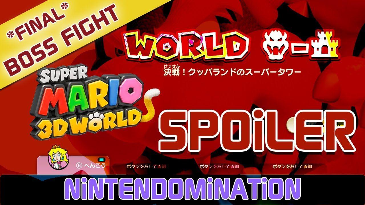*SPOILER* Super Mario 3D World - FINAL BOSS FIGHT