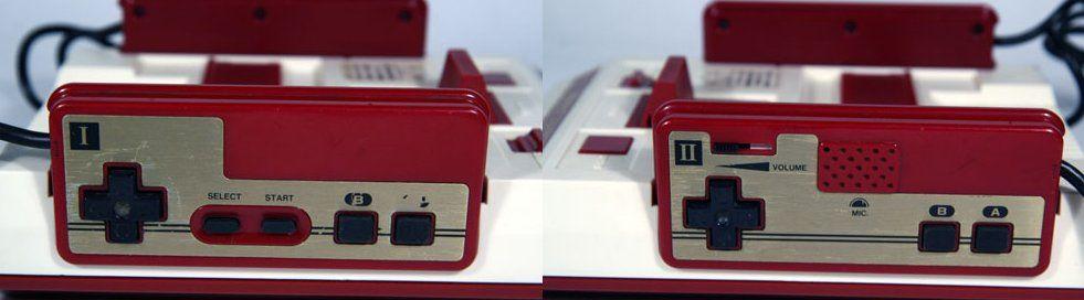 I controller I e II con i tasti quadrati