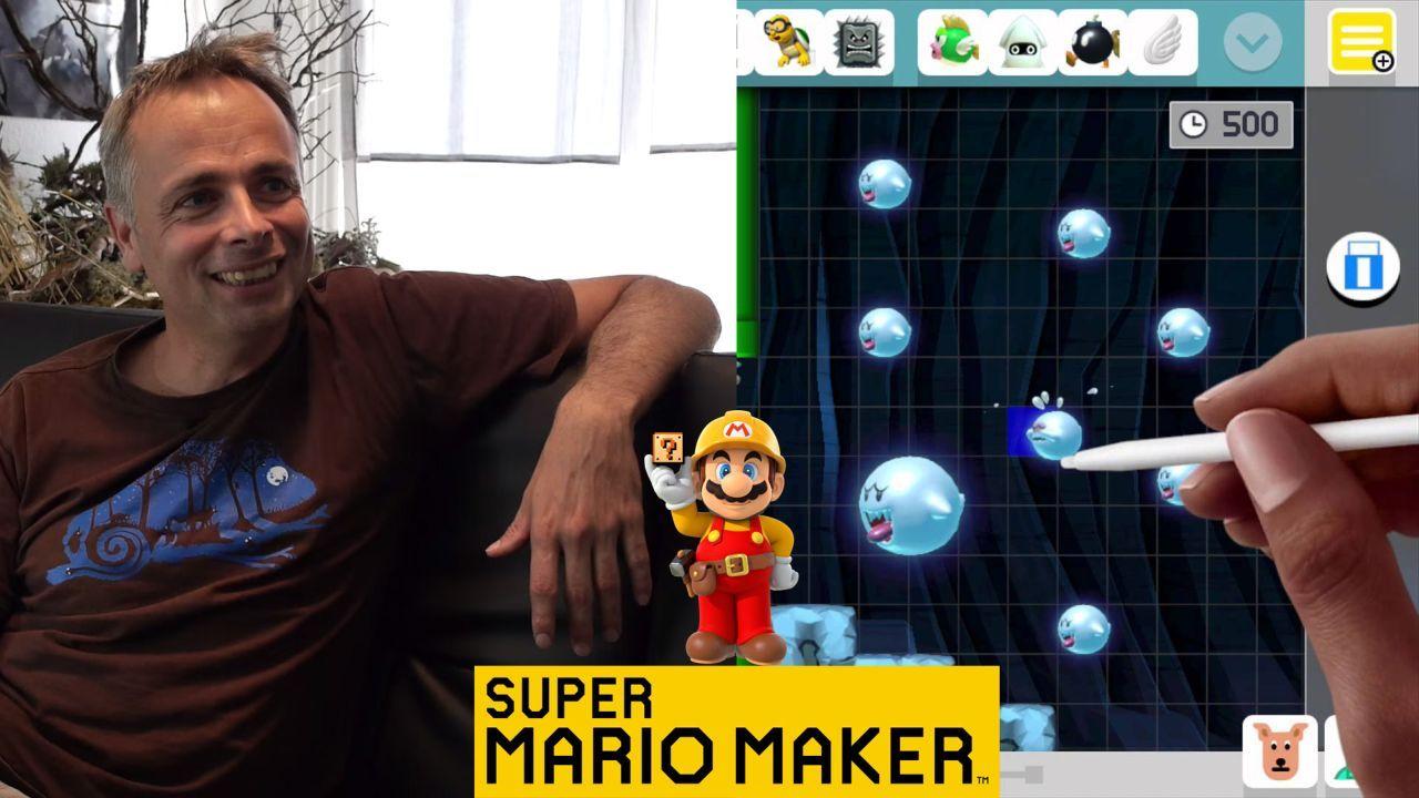 Squishy Super Mario Maker : Miyamoto gioca il livello di Super Mario Maker creato da Michael Ancel - NintendOn