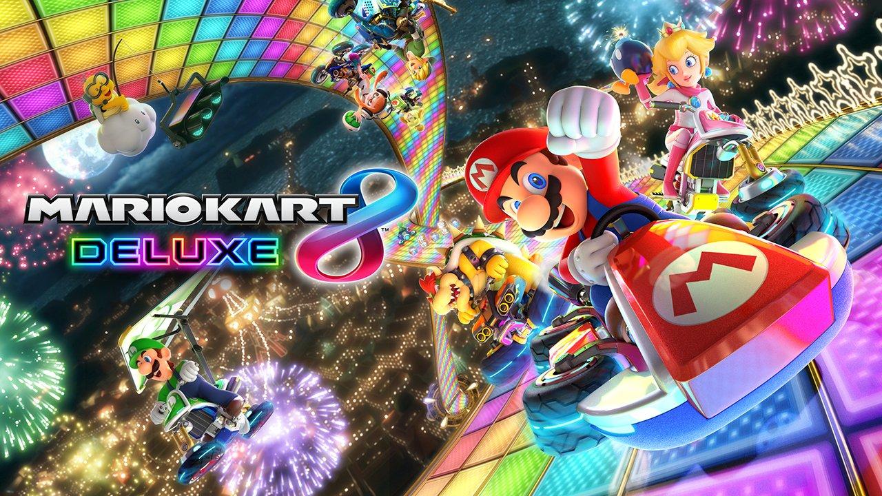 Mario Kart 8 Deluxe caratteristiche trailer Nintendo Switch amiibo fire hopping