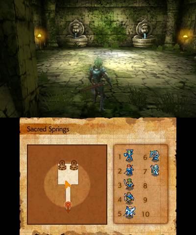In fondo ai dungeon è spesso possibile trovare delle fonti sacre che permettono l'aumento dei parametri..