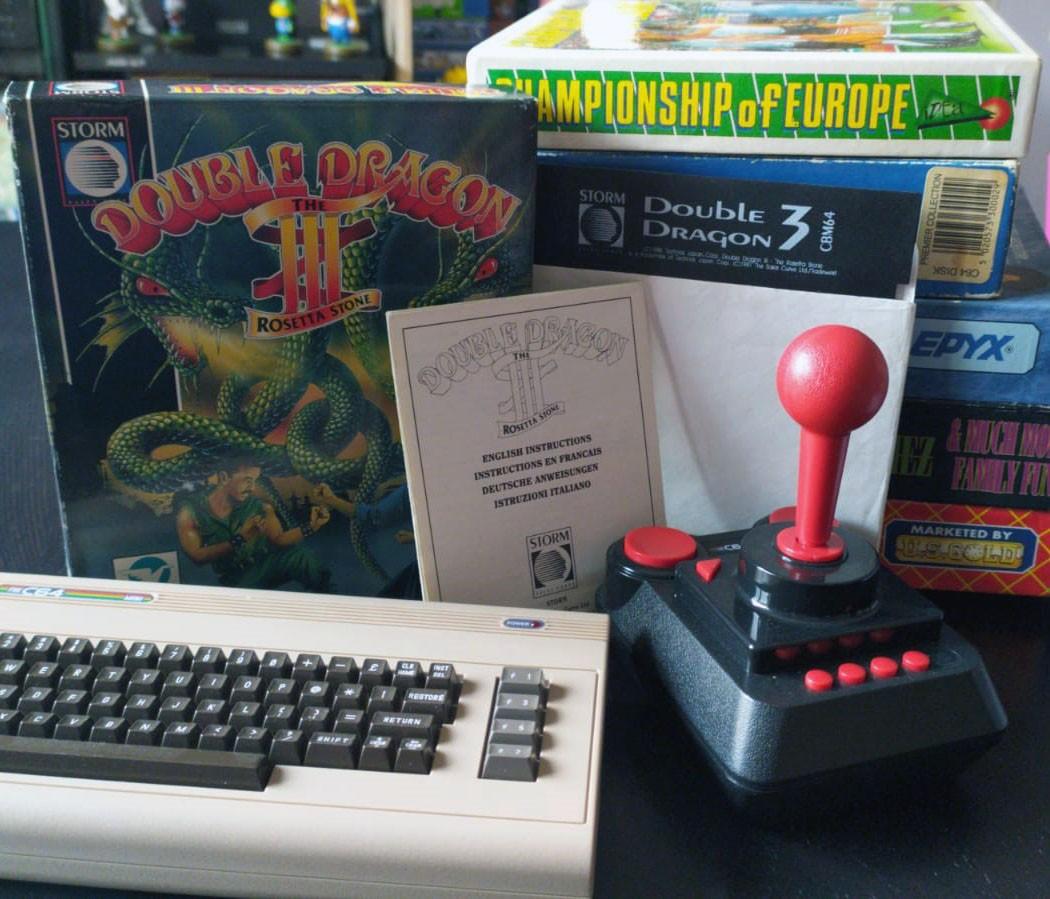 Una foto del mio Double Dragon 3 per Commodore 64