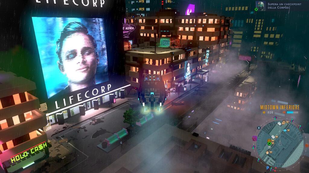 cloudpunk città neon