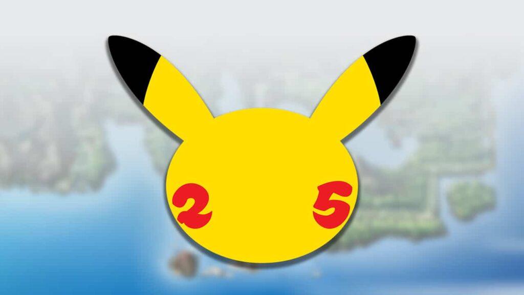 Banner Pokémon 25 Anniversary