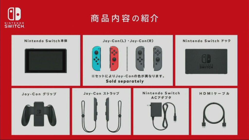 Contenuto confezione Nintendo Switch