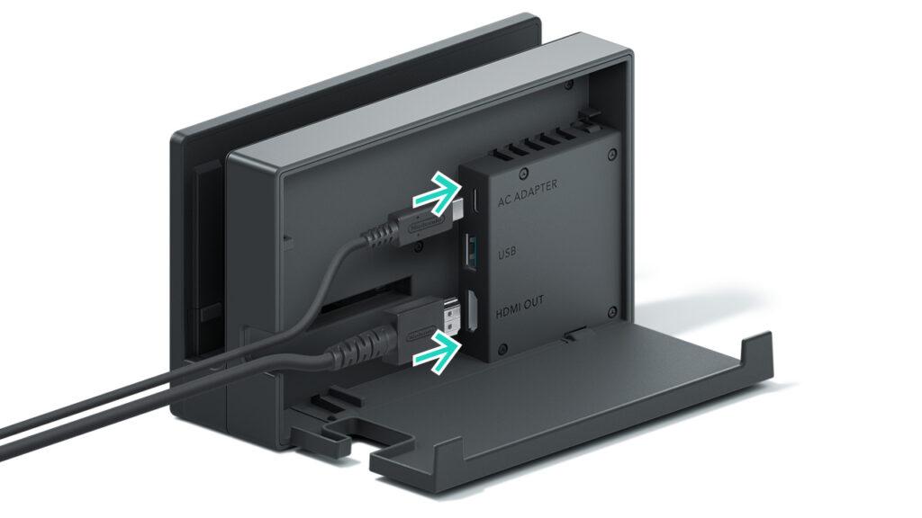 Dock Nintendo Switch retro collegamenti