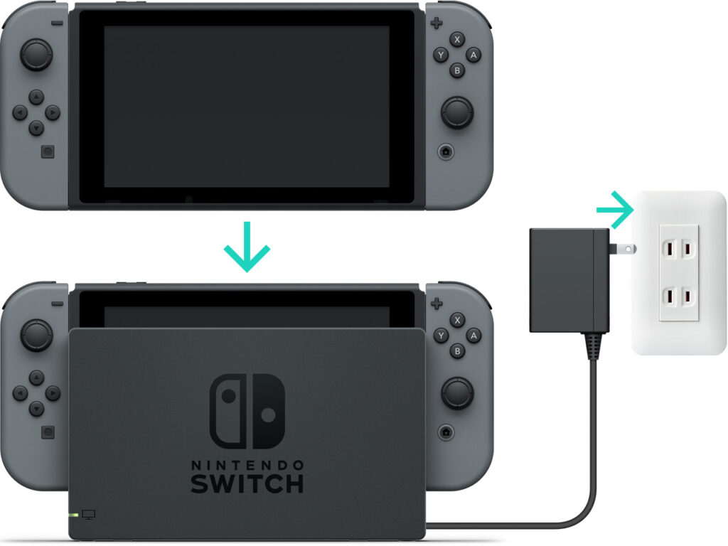 Nintendo Switch ricarica in dock